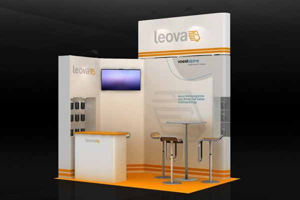 3x2 m - Stand d'angle | Stand d'exposition