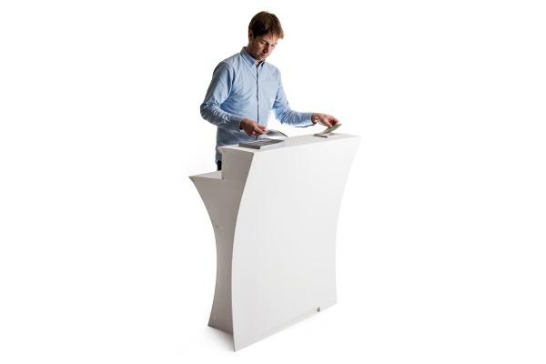 Flux Arc - Comptoir bar promotionnel pliable | Comptoir pour salons