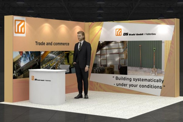 4x4 m - Stand d'angle | Stand d'exposition