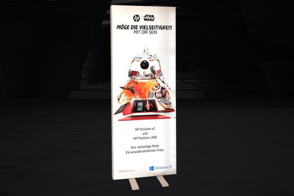 Expo Lumini 100 - Mur d'images retroéclairé LED | Stand pop up illuminé | Cadre lumineux