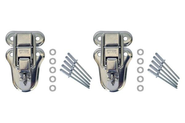 2 fermetures à crochet avec 10 rivets et 10 rondelles pour valise/comptoir Light