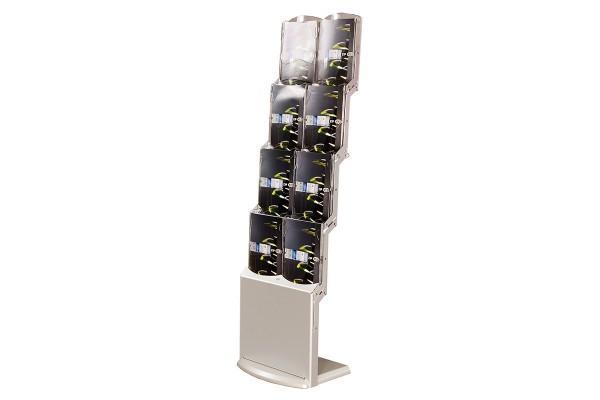 Présentoir Expo Up Double - Porte-brochures A4 pliable avec huit compartiments
