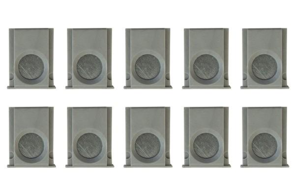 10 butoirs pour montants magnétiques d'Expofix Magnetic