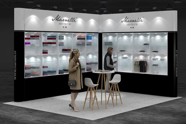 5x4 m - Stand d'angle | Stand d'exposition