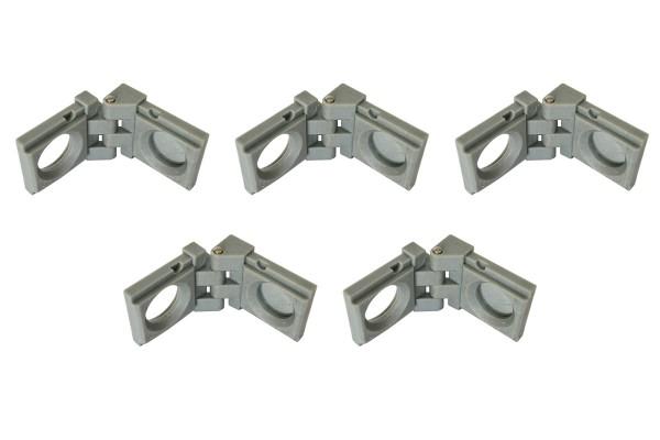 Lot de 5 chanières pour montants magnétiques d'Expofix Magnetic