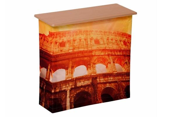 Comptoir Outstanding Fabric - Comptoir promotionnel pliable avec visuels textiles